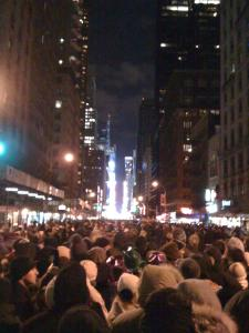 The Crowd ... those lights in the distance is Times Square.